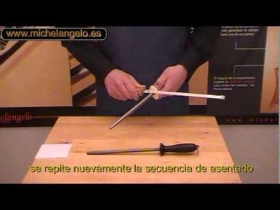 Cómo Afilar un Cuchillo Jamonero Michelangelo