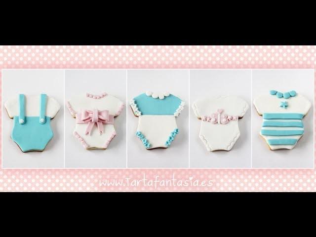 Cómo Decorar Galletas de Bebé. 1ª Parte Diseño Body con Tirantes