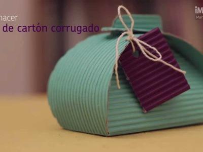 Cómo hacer cajas de cartón corrugado | Cajas de cartón | @iMujerHogar