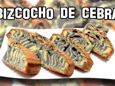 Como Hacer el Bizcocho Cebra | Recetas de Cocina