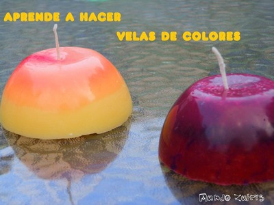 Como hacer preciosas velas de colores - How to make nice colors candles