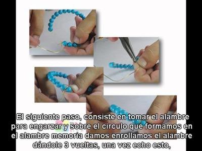 Como hacer pulseras de cuentas con motita