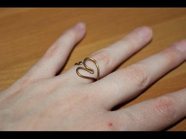 Cómo hacer un anillo en forma de corazón   facilisimo.com