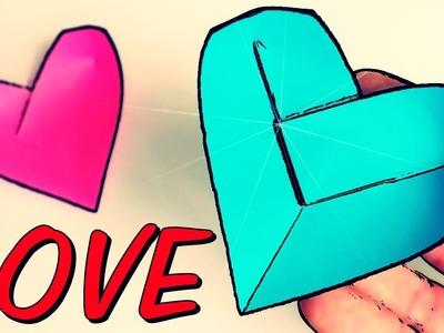 Cómo hacer un Corazón de Papel - Origami