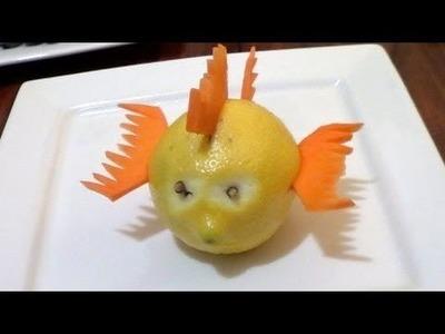 Cómo hacer un pescado con un limón y zanahoria - Arte con frutas - La receta de la abuelita