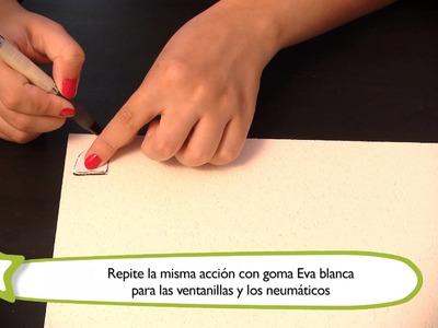 Cómo hacer un posavasos : Manualidades para niños en goma Eva