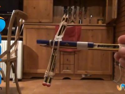 Cómo hacer una ballesta con lápices