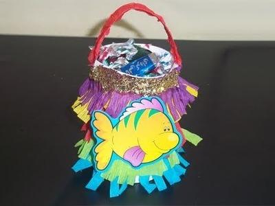 Cómo hacer una mini piñata multicolor