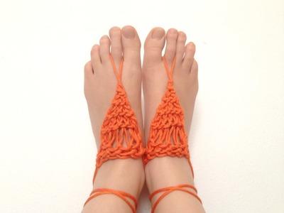 Cómo tejer sandalias descalzas con telar (Tutorial DIY)