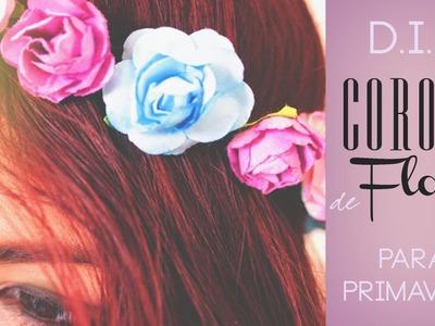 Corona de Flores para Primavera - Hazlo tu misma