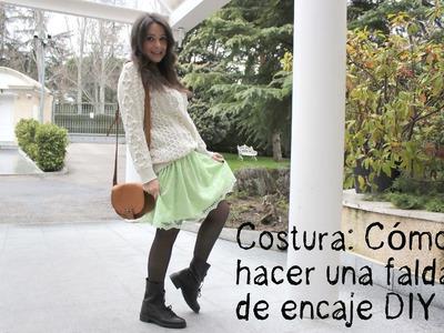 Costura: Cómo hacer una falda de encaje DIY