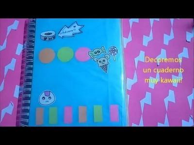 Cuaderno Kawaii Regreso a Clases Decora tus cuadernos