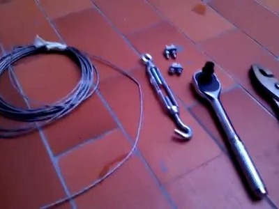 Cuerda para colgar ropa con pocos materiales y muy resistente