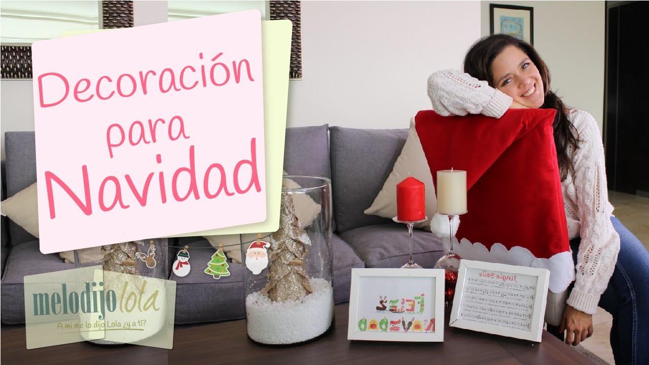 Decoraciones navideñas | Decoraciones fáciles para Navidad | DIY Holiday decorations