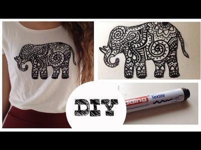 DIY - Camiseta con elefante estampado