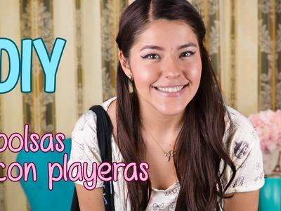 DIY CONVIERTE PLAYERAS EN BOLSAS | MUSAS
