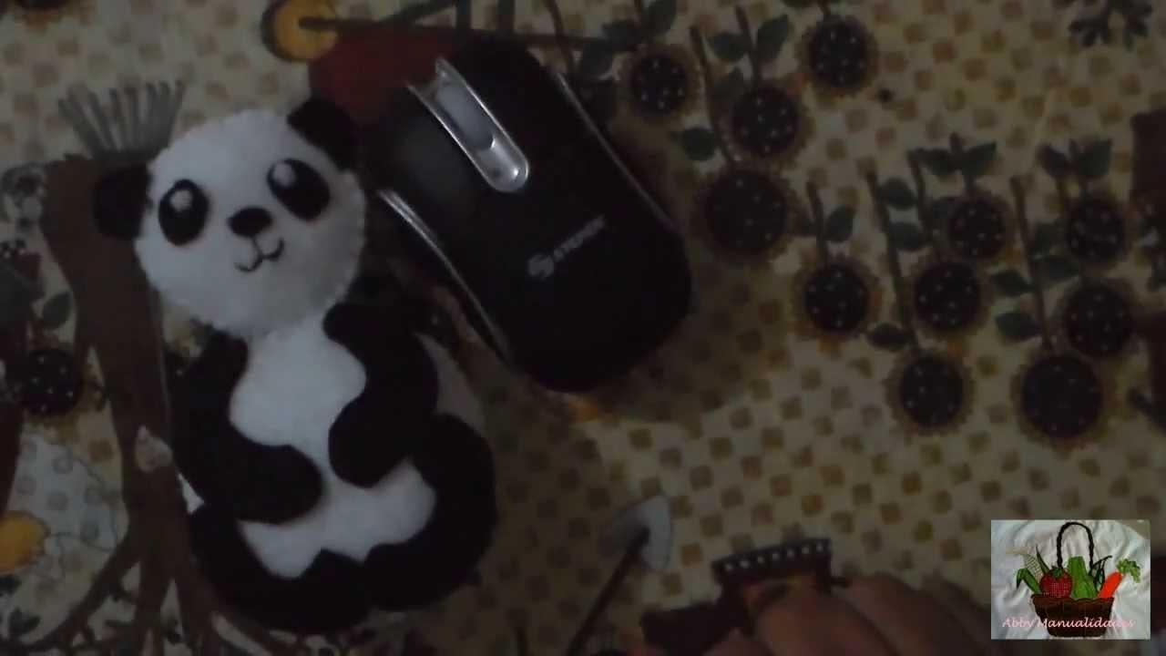 DIY Osito panda en fieltro