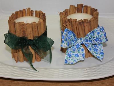 DIY: Velas aromáticas con canela