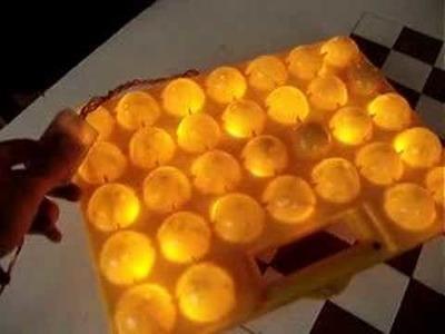 Lámpara caja de huevos