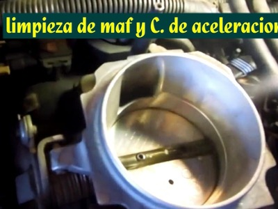 Limpieza de valvula IAC y cuerpo de aceleracion