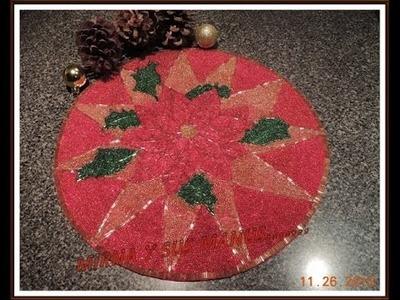 MANTEL INDIVIDUAL NAVIDEÑO  .   Christmas placemat