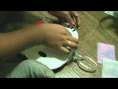 Manualidades: Espejo con luz de Hello Kitty - Juancarlos960