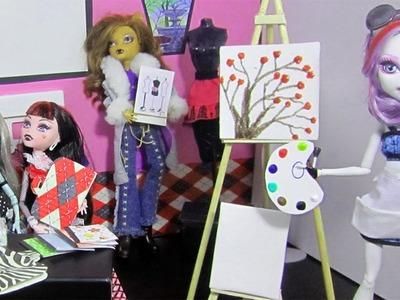 Manualidades para muñecas: Haz útiles escolares en miniatura 3ra parte: Clase de arte