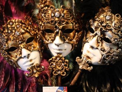 Mascaras del Carnaval de Venecia.