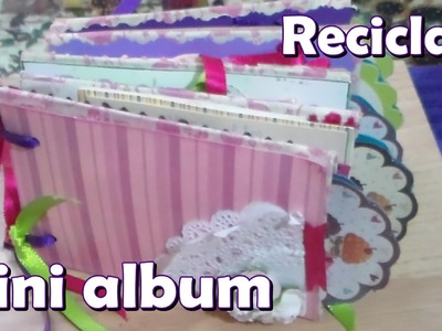 Mini album con tubitos de papel higienico