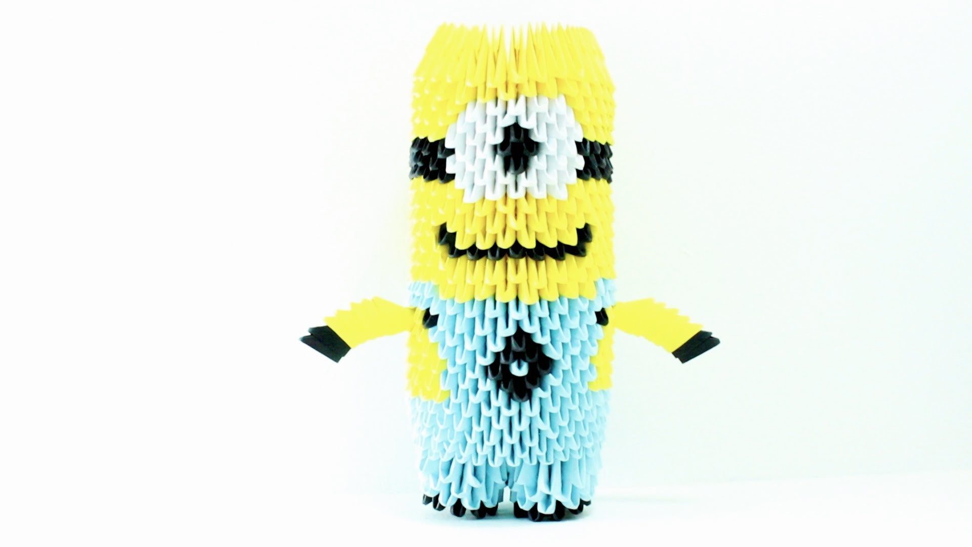 Minion Origami 3D TUTORIAL - photo#13
