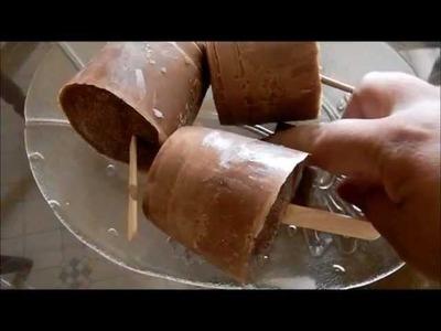 Paletas de chocolate  abuelita heladas