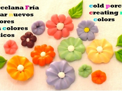 Porcelana fría como crear colores Cold porcelain and create colors