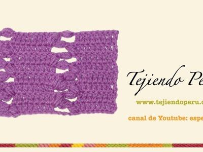 Punto fantasía en crochet # 25: escalera de piñas