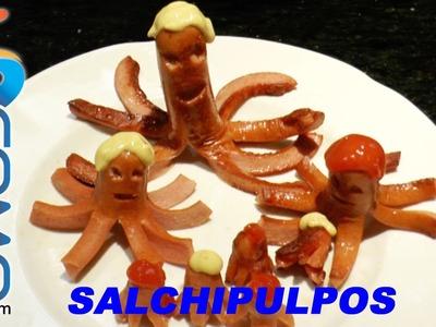Recetas infantiles para salchipulpos - Octopus Sausage