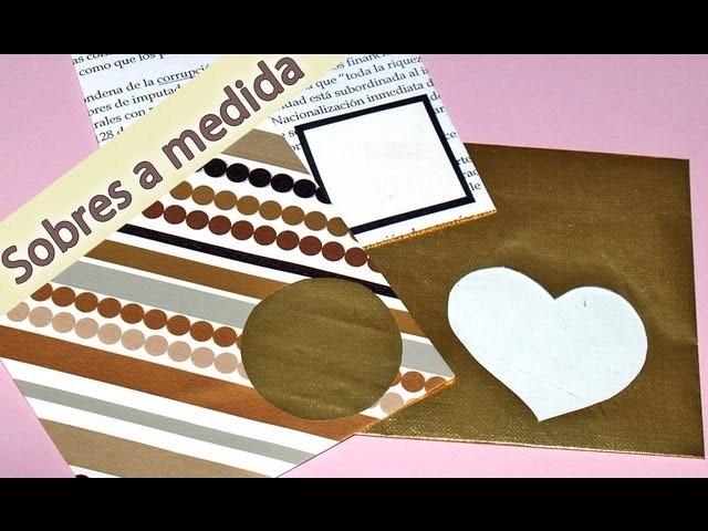 Sobre Cuadrado a Medida - DIY - Square Tailor-Made Envelope