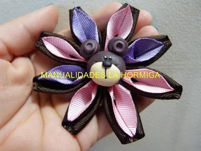 Tutorial como hacer flores en citas para accesorios para el cabello . video No.196