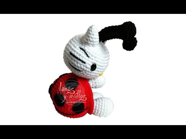 Tutorial Hello Kitty Mariquita Amigurumi Ladybug 3 de 3 (english subtitles)