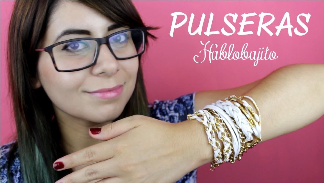 4 Ideas para hacer pulseras o manillas. DIY Pulseras fáciles