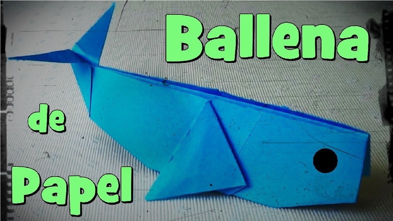 Ballena de Papel - Origami
