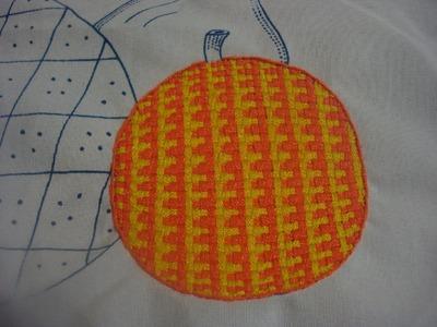 Bordado  Fantasía Naranja  # 2