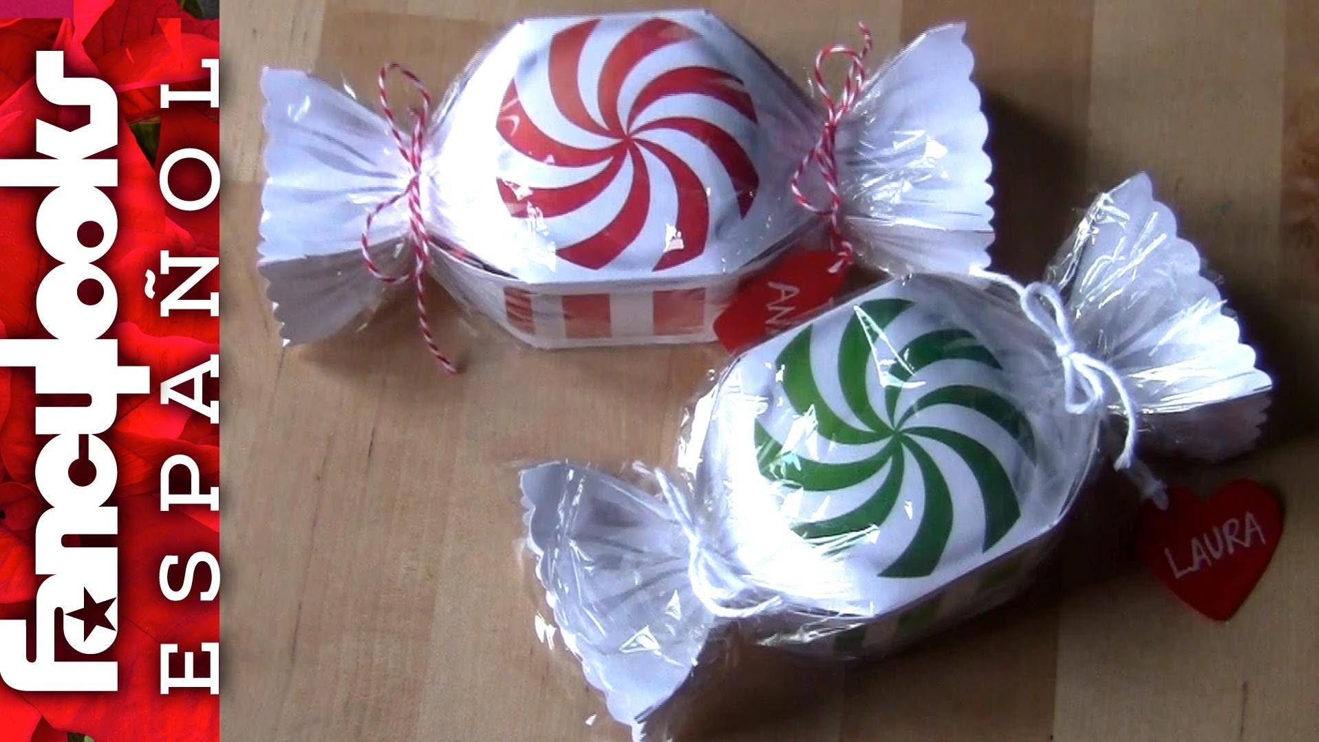 Cajitas regalo peppermint Candy (descarga plantillas)
