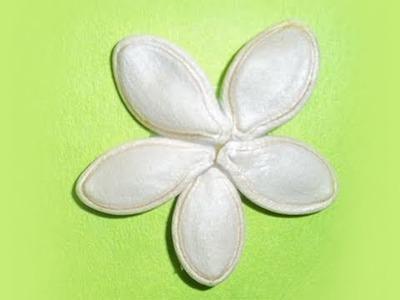 Cómo hacer florecitas con semillas de calabaza