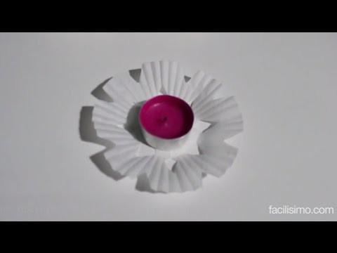 Cómo hacer flores para velas o copos de nieve   facilisimo.com