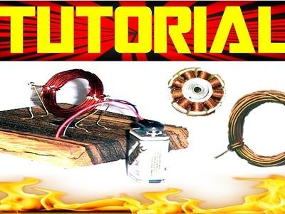 Como Hacer un Motor Casero con Imanes   Experimentos Caseros