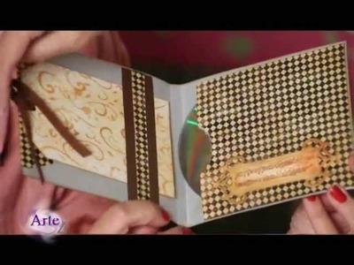 Cómo hacer un porta CD con  Scrapbooking