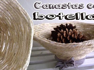 Cómo hacer una canasta con botellas recicladas - Candy Bu