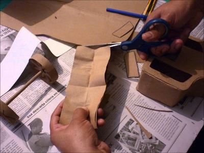Cómo hacer una carreta de papel paso a paso
