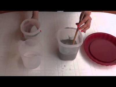 ¿Cómo hacer una maceta con cemento?