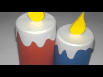 Cómo hacer velas en foamy centro de mesa navideño en foami con velas decorativas