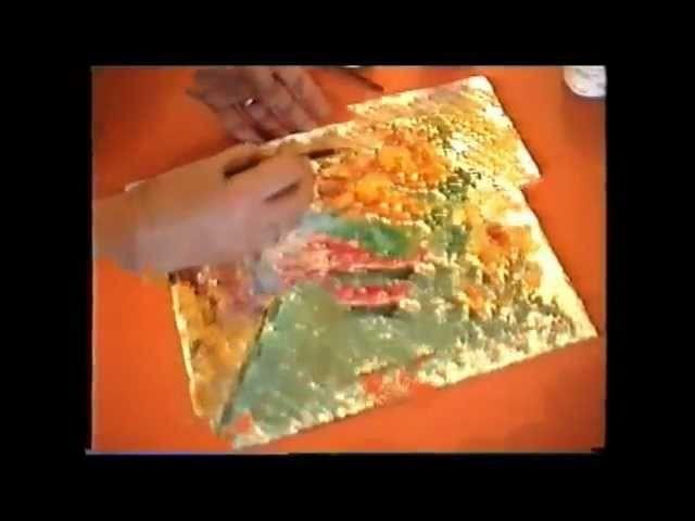 Como pintar con temperas sobre papel de aluminio
